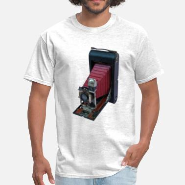 Vintage Postcard Vintage Folding Rollfilm Postcard Camera - Men's T-Shirt