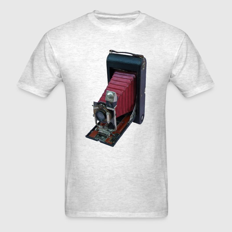 Vintage Folding Rollfilm Postcard Camera - Men's T-Shirt