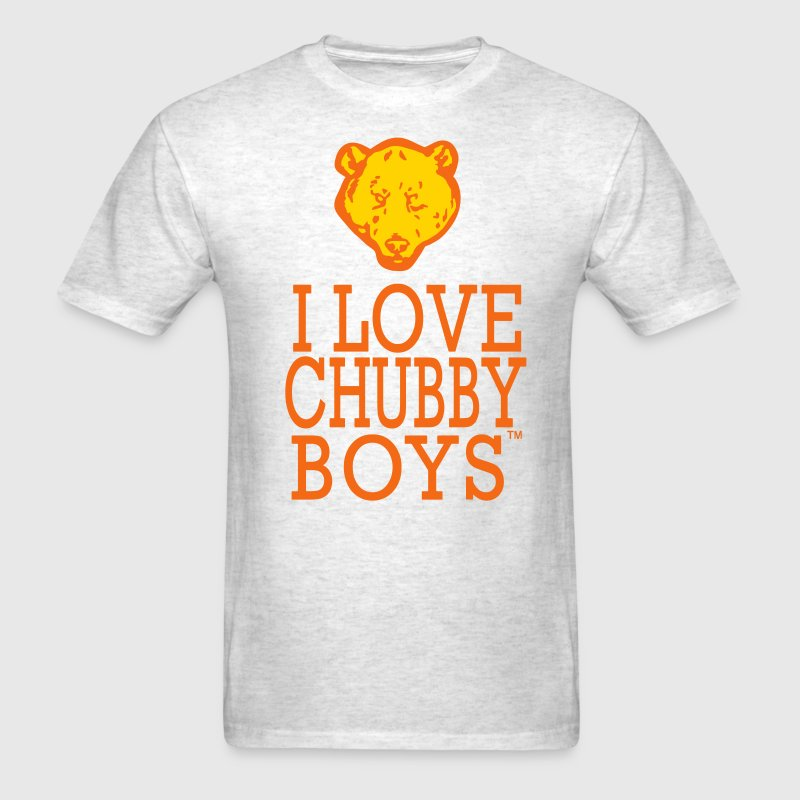 I LOVE CHUBBY BOYS - Men's T-Shirt