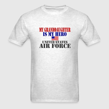GRANDDAUGHTER HERO USAF - Men's T-Shirt