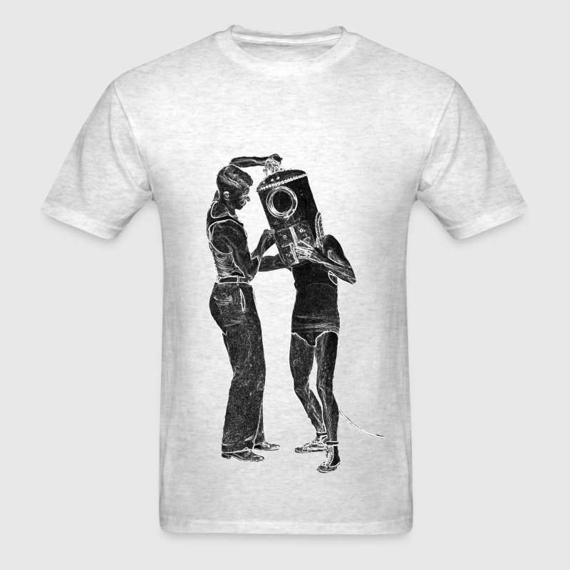 Vintage Shallow Water Helmet Diver with Assistant - Men's T-Shirt
