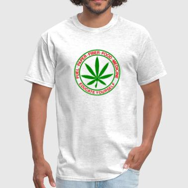 fuel-paper-fiber-food-medicine-cannabis-shirt.png - Men's T-Shirt