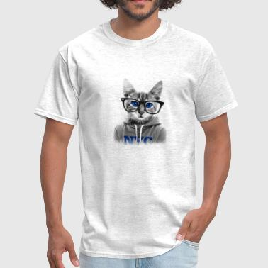 Nerd Cat - Men's T-Shirt