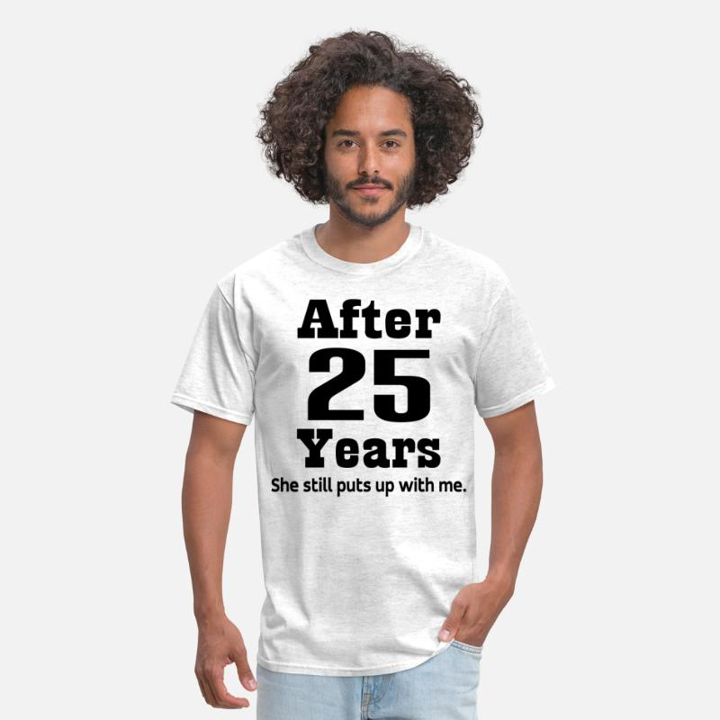 25 T-Shirts - 25th Anniversary quote - Men's T-Shirt light heather grey