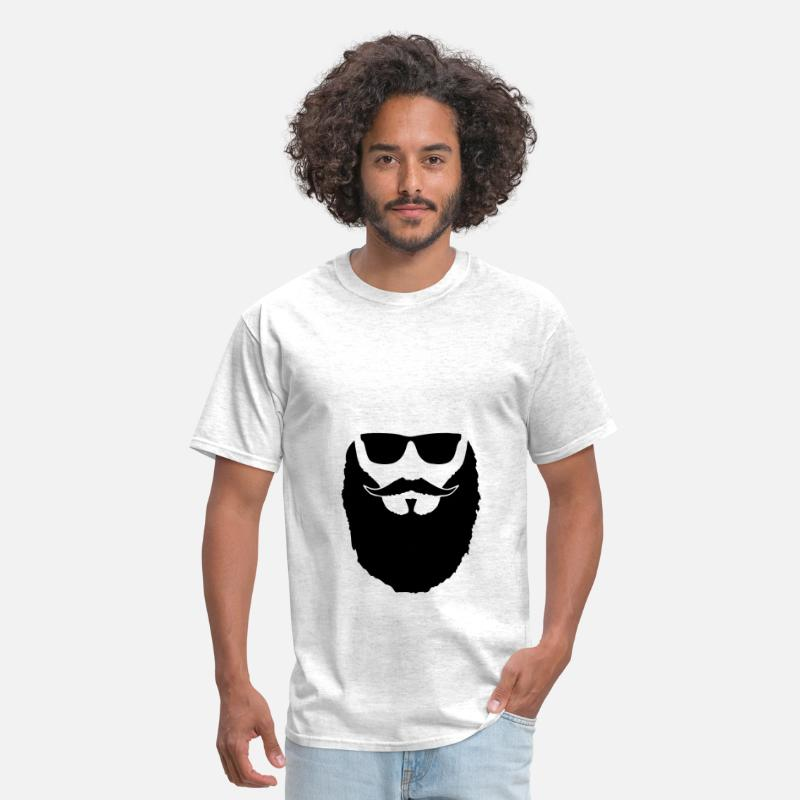 I Love T-Shirts - Hipster beard and glasses - Men's T-Shirt light heather grey