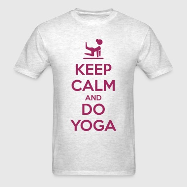Keep Calm and do Yoga - Men's T-Shirt