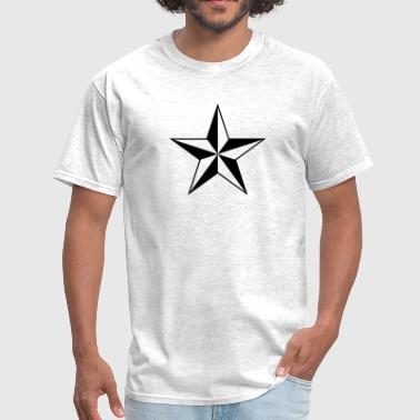 Peace Love Anarchy Nautical star protection guidance good luck symbol - Men's T-Shirt