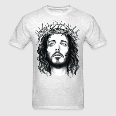 jesus with crown of thorn - Men's T-Shirt