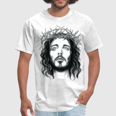 Cool jesus with crown of thorn - Men's T-Shirt