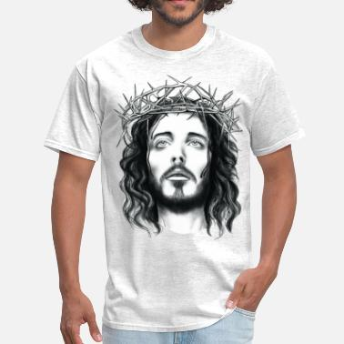 Jesus Christ jesus with crown of thorn - Men's T-Shirt