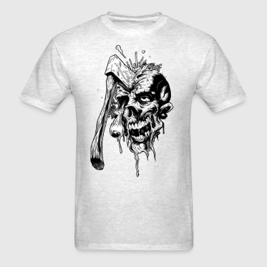 skull with axe - Men's T-Shirt
