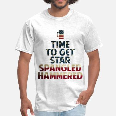 Spangle Star Spangled Hammered  - Men's T-Shirt