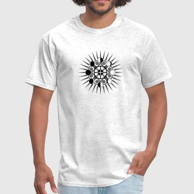 Moon Phases & Earth - Symbol change is stability - Men's T-Shirt