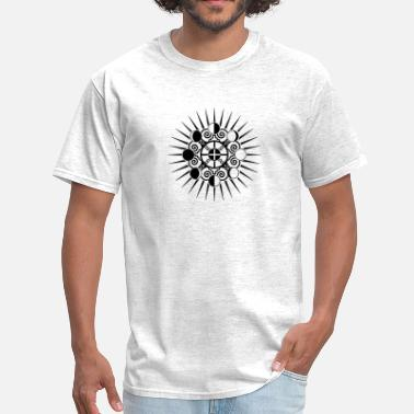 Phase One Moon Phases & Earth - Symbol change is stability - Men's T-Shirt