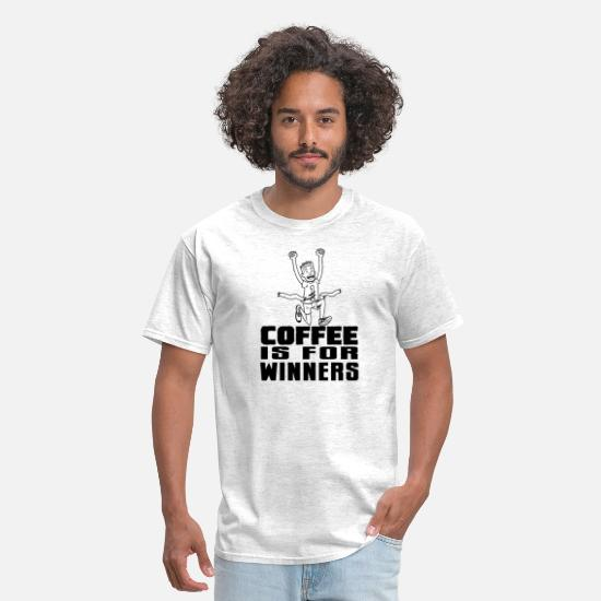 Cool T-Shirts - Coffee Is For WInners - Men's T-Shirt light heather grey