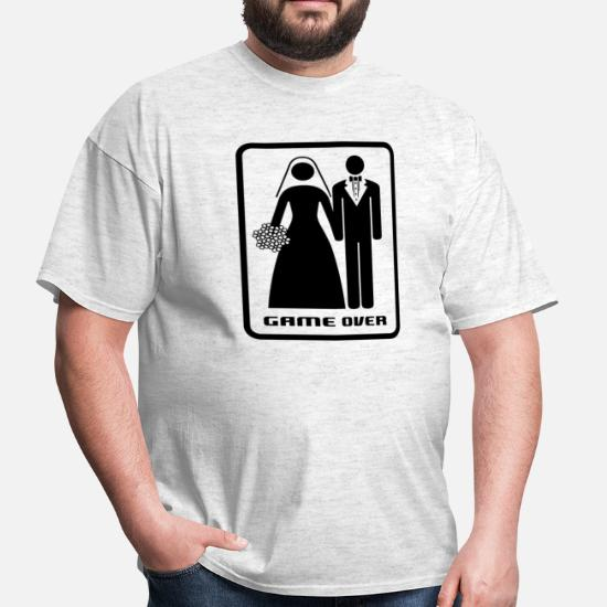 9072d646 GAME OVER (HATE MARRIAGE) Men's T-Shirt | Spreadshirt