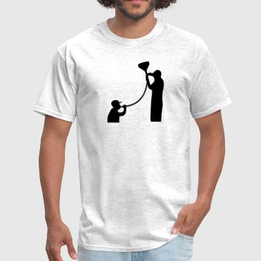 Beer Bong Funneling - Men's T-Shirt