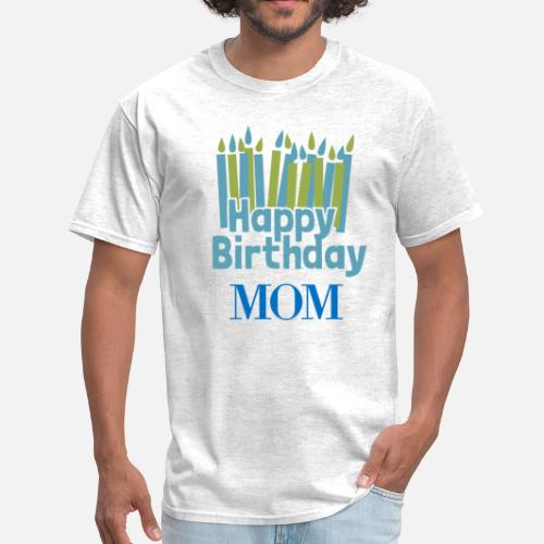 Happy Birthday Candle Mom Mens T Shirt