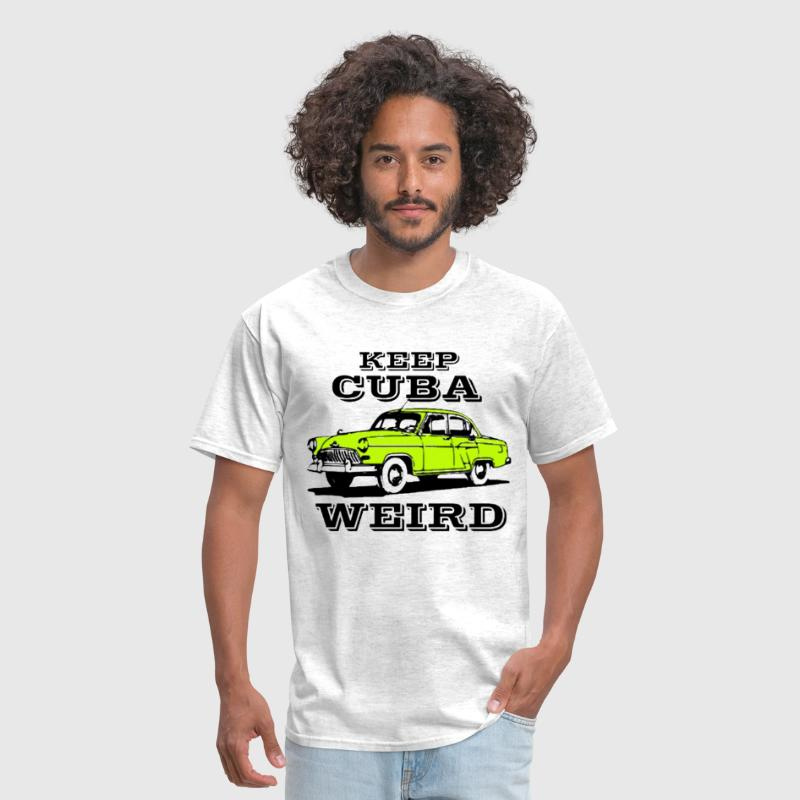 keep Cuba weird vintage car - Men's T-Shirt