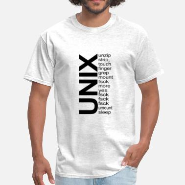 Fsck Why programmers like UNIX: - Men's T-Shirt