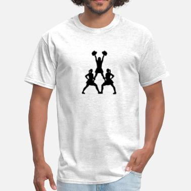 Cheerleader Pyramid Cheerleader - Men's T-Shirt