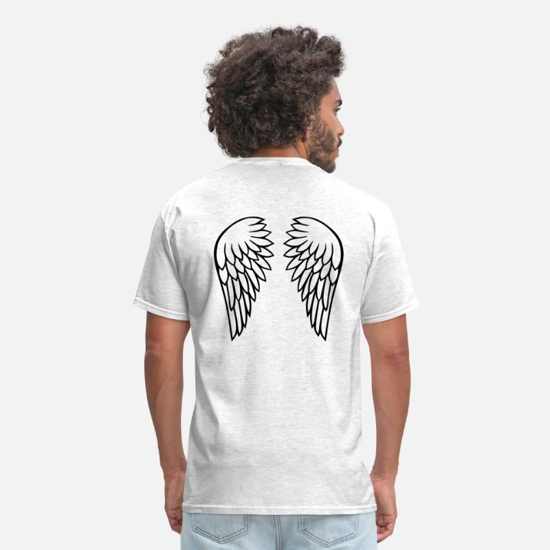Feather T-Shirts - Angel wings - Men's T-Shirt light heather grey