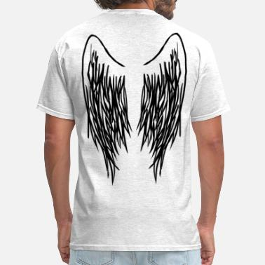 Right Wing Black Right Wing Outline - Men's T-Shirt