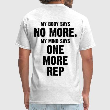 My Body Says No More (Vektor) - Men's T-Shirt