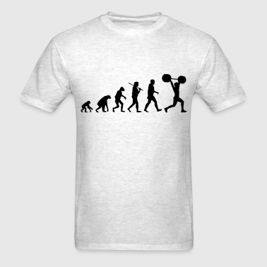 evolution_of_weightlifting - Men's T-Shirt