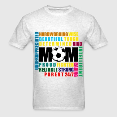 Soccer Gift Soccer Mom Adjectives - Men's T-Shirt