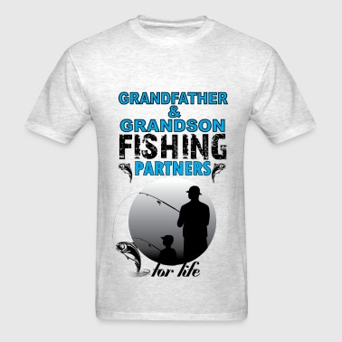 Grandfather & Grandson Fishing Partners For Life - Men's T-Shirt