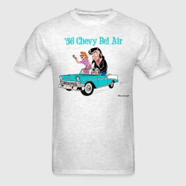 1956 Chevy Bel Air Cartoon - Men's T-Shirt