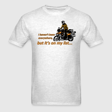 Dualsport - it's on my list (lightcolored shirt) - Men's T-Shirt