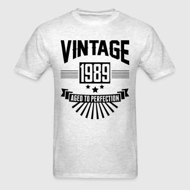 VINTAGE 1989 - Birthday - Aged To Perfection - Men's T-Shirt
