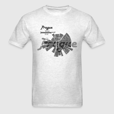 Prague Map - Men's T-Shirt