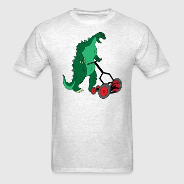 Godzilla Mowing the Lawn - Men's T-Shirt