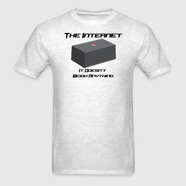 The internet is Weightless - Men's T-Shirt