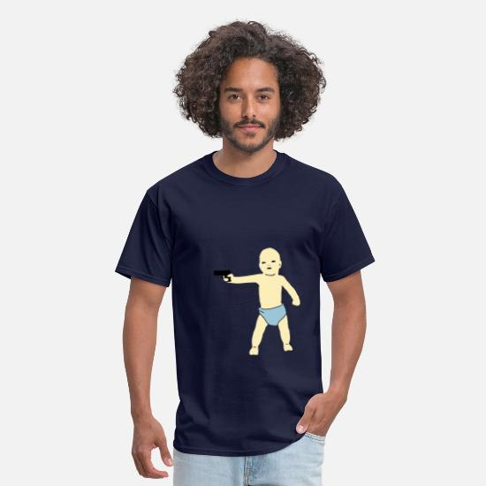 Baby T-Shirts - baby gun - Men's T-Shirt navy