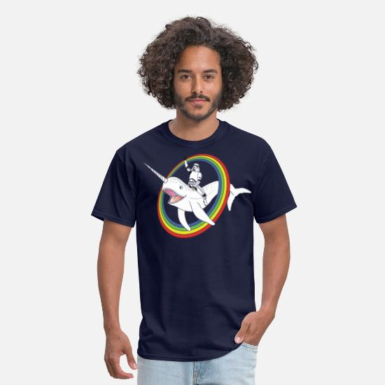 Funny T-Shirts - Narwhal Rainbow Stormtrooper - Men's T-Shirt navy