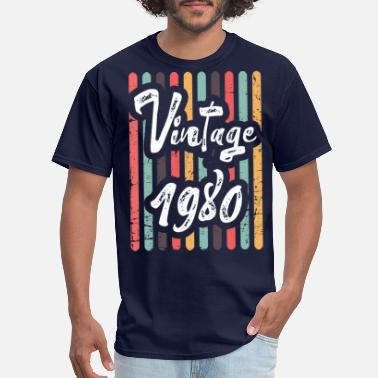39 Birthday Vintage 1980 Cute Birthday Women Gift 39 th Birthd - Men's T-Shirt