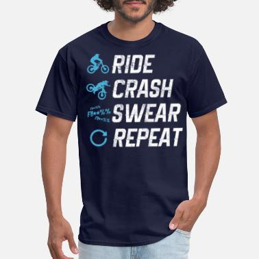 Ride Mountain Bike - Ride Crash Swear Repeat - Men's T-Shirt