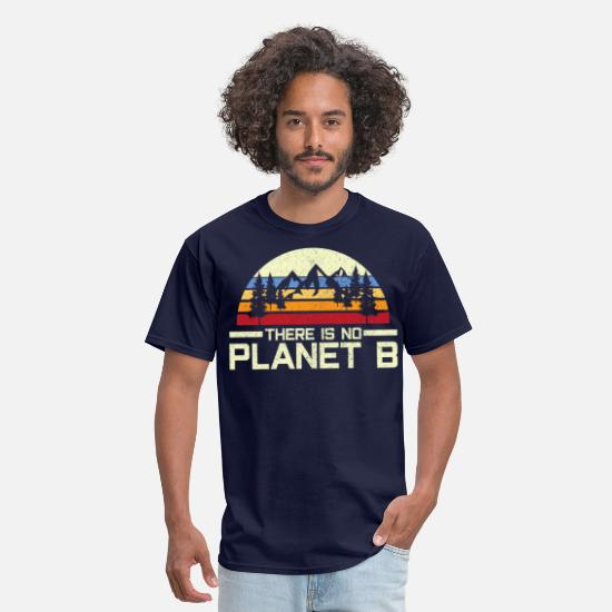 Mountains T-Shirts - There Is No Planet B - Earth Day Environmental - Men's T-Shirt navy