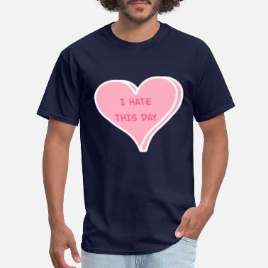 Single As Fuck Anti-Valentine's Day Funny Conversation Heart Tee - Men's T-Shirt