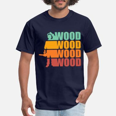 Chain Saw Tree LOGGER LUMBERJACK GIFT CHAIN SAW FOREST WOOD AX - Men's T-Shirt