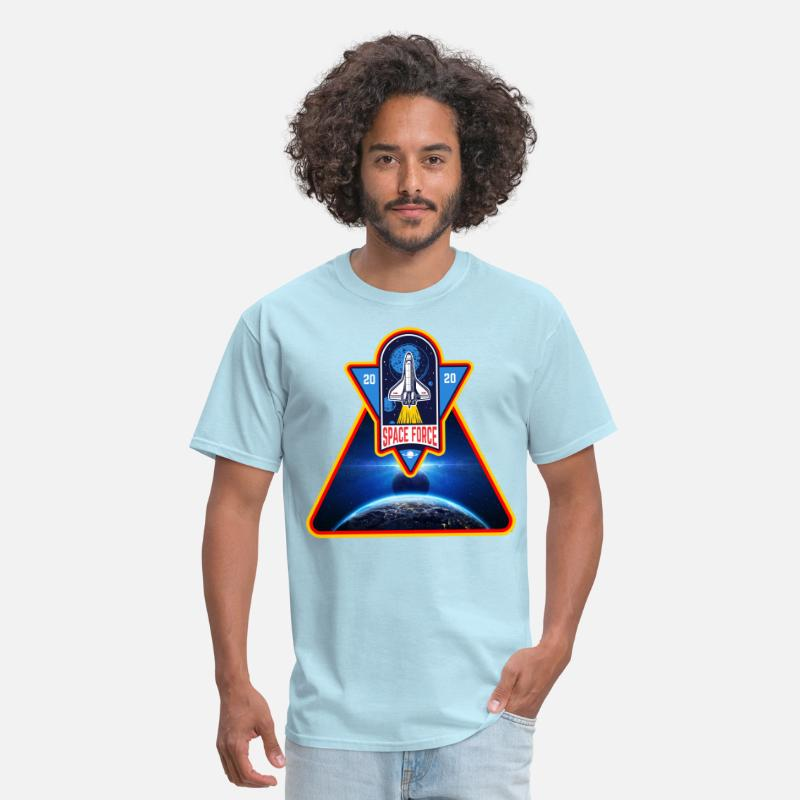 United States Space Force Funny Astronaut Vintage T Shirt Navy Cotton Men S-6XL