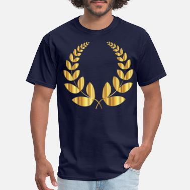 Laurel Gold Laurel Wreath 2 No Background - Men's T-Shirt