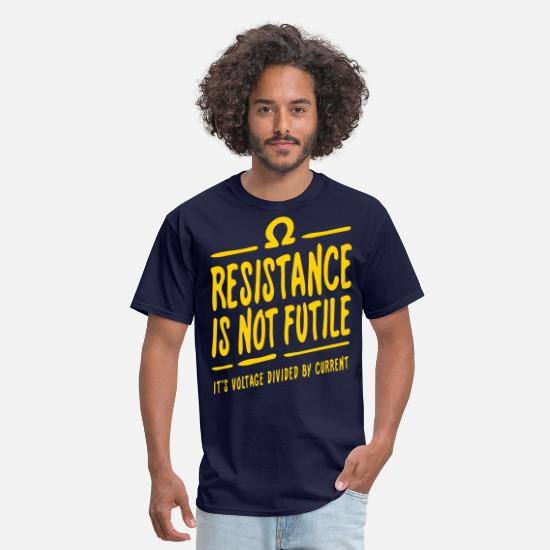 Science T-Shirts - Resistance is not futile - Men's T-Shirt navy