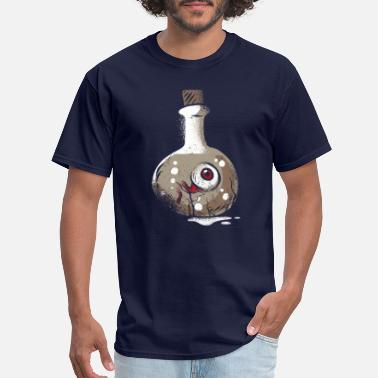Eyelashes Eyeball Dark Eyeball T-Shirt, Scary Eye Ball Halloween - Men's T-Shirt