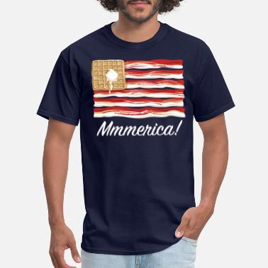 America Mmmerica - Bacon Flag - Men's T-Shirt