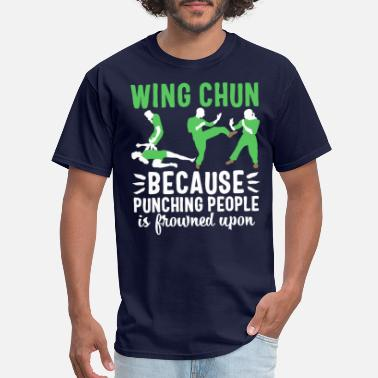 Defensive Wing chun t-shirt Kung Fu Martial Arts usa sport - Men's T-Shirt